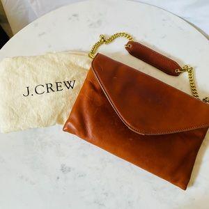 J. Crew. Leather clutch